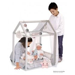 Lit Petite Maison de Poupée en Bois Martín De Cuevas Toys 54929 | De Cuevas Toys