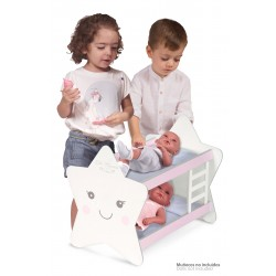 Couchette pour Poupées en Bois Martín De Cuevas Toys 55329 | De Cuevas Toys