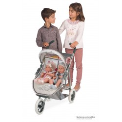 Poussette Gémellaire pour Poupées Reborn De Cuevas Toys 90331