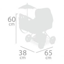 Chariot de Poupée Pluant avec Parasol Martina DeCuevas Toys 85033 | DeCuevas Toys